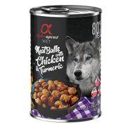 Alpha Spirit albóndigas para perro de pollo y cúrcuma