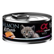 Alpha Spirit alimento húmedo para gatito con 96% de salmón