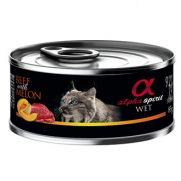 Alpha Spirit lata para gato adulto con buey y melón