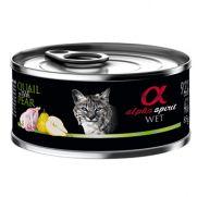 Alpha Spirit lata para gato con codorniz y pera