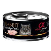 Alpha Spirit lata para gato esterilizado con conejo