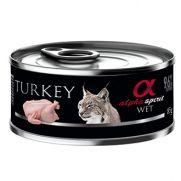 Alpha Spirit lata para gato con 96% de carne de pavo