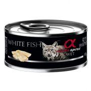 Alpha Spirit lata con pescado blanco para gato con alergias