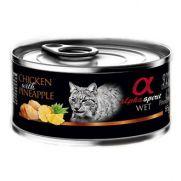 Alpha Spirit lata para gato con pollo y piña