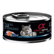 Alpha Spirit lata para gato con salmón y arándanos