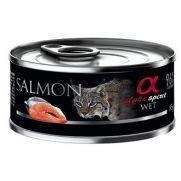 Alpha Spirit lata para gato adulto con salmón e hipoalergénico