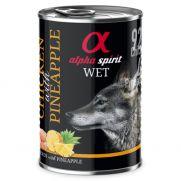 Alpha Spirit lata con 92% pollo y 4% de piña, sin conservantes