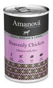 Amanova adulto medium con 92% de carne de pollo y 4% de arroz