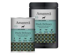 Amanova bio, con 84,5% carne de pato, 12% patata