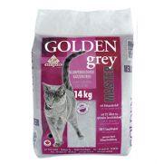 Arena golden grey aglomerante para gatos con bentonita y dura 2 meses