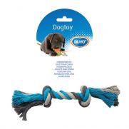 Duvo tug knotted rope, cuerda de algodón con dos nudos