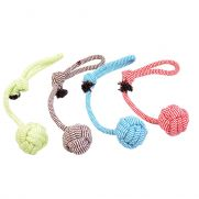 Duvo juguete para perro, scooby rope dummy ball with loop