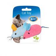 Duvo assortment of mice, juguete para gato con dos ratones