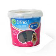 Duvo golosinas para perros, soft chew flat jerky beef