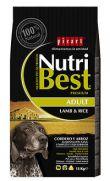 NutriBest cordero y arroz pienso para perros adultos