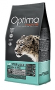 Optima nova para gatos adultos esterilizados con 40% pollo fresco