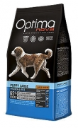 Optima nova puppy large, con 65% pollo y 15% arroz para cachorros