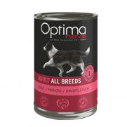 Optimanova adult all breeds beef, para de todas las razas, con ternera