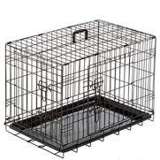 Duvo jaula para perro, crate 2 doors plastic tray