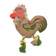 Duvo canvas rooster, juguete para perros con forma de gallo