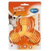 Duvo yummy juguete de goma con sabor a pollo para perro