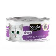 Kit cat comida en salsa para gato con atún y chanquetes