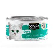 Kit cat comida húmeda en salsa para gato, con atún y huevos de codorniz