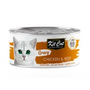 Kit cat comida húmeda con salsa para gato de pollo y ternera