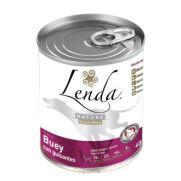 Lenda lata de buey con guisantes para perro, con 76% de carnes