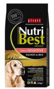 NutriBest adult sensitive salmon, para perros con sensibilidad