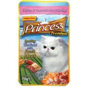 Princess bolsa de pollo (25,5%), atún (25,5%) y gambas (3%)
