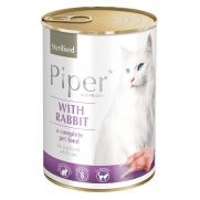 Piper animals, comida húmeda para gatos esterilizado con conejo