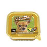 Prince paté con 5% de pato para perros adultos