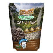 Princess arena para gato ecológica biodegradable y con granos de café