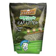 Princess arena para gato ecológica biodegradable té verde