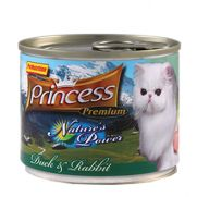 Princess natures power con pato y conejo para gatos adultos, senior y cachorros