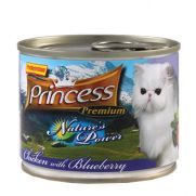 Princess natures power para gatos, con 65.8% de pollo y 2% de arándanos