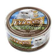 Princess para gato con 23.5% pollo, 23.5% atún, 50.83% arroz y 1% pato barbacoa