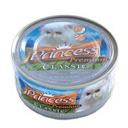 Princess latita de pollo (25,5%), atún (25,5%) y almejas (3%)