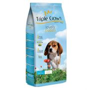 Triple crown lovely puppy alimento para cachorros con 25% ave, 10% pollo fresco