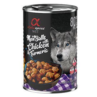 Alpha spirit albondigas perro pollo curcuma telepiensoscanarias
