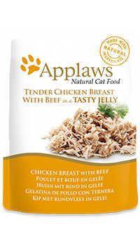 Applaws pouch gelatina gato pollo ternera Telepiensoscanarias