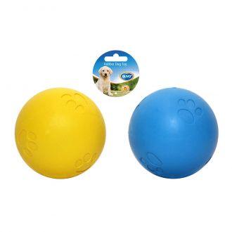 Duvo juguete perro rubber blue squeaky ball Telepiensoscanarias