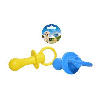 Duvo juguete perro rubber squeaky pacifier Telepiensoscanarias