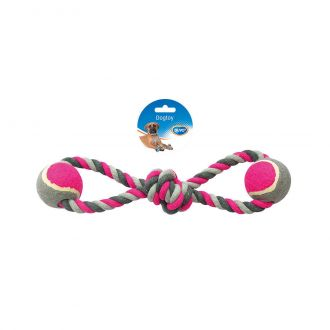 Duvo juguete para perro, tug knotted cotton eight pull