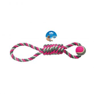 Duvo juguete perro tug knotted cotton pendulum tennis ball Telepiensoscanarias