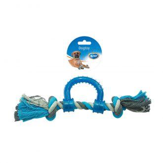 Duvo juguete perro tug knotted cotton pull ring plastic Telepiensoscanarias