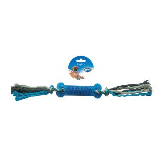 Duvo juguete perro tug knotted cotton two knots rubber Telepiensoscanarias