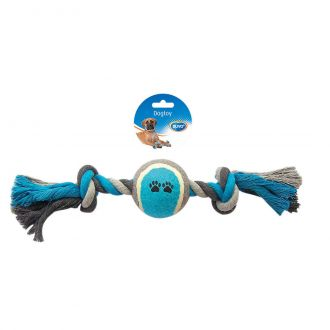 Duvo juguete perro tug knotted cotton two knots tennis ball Telepiensoscanarias