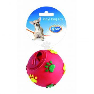 Duvo juguete perro vinyl treat ball paws Telepiensoscanarias